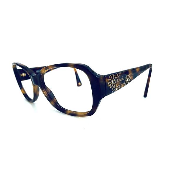 Coach Oval Tortoise Frame Glasses